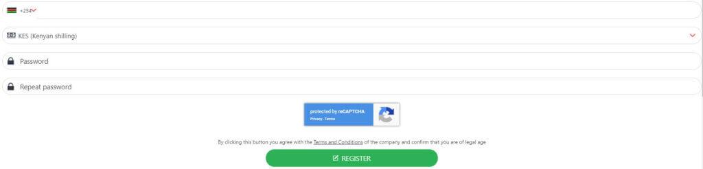 22bet Kenya registration