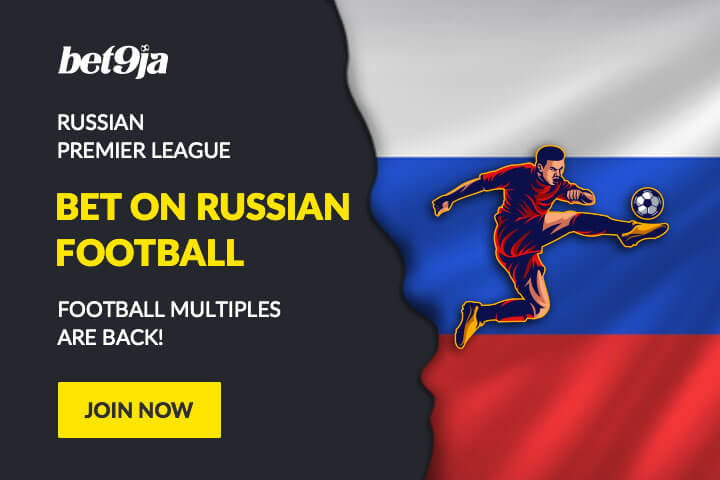 Bet9ja football multiples - Russian League with Bet9ja promotion code